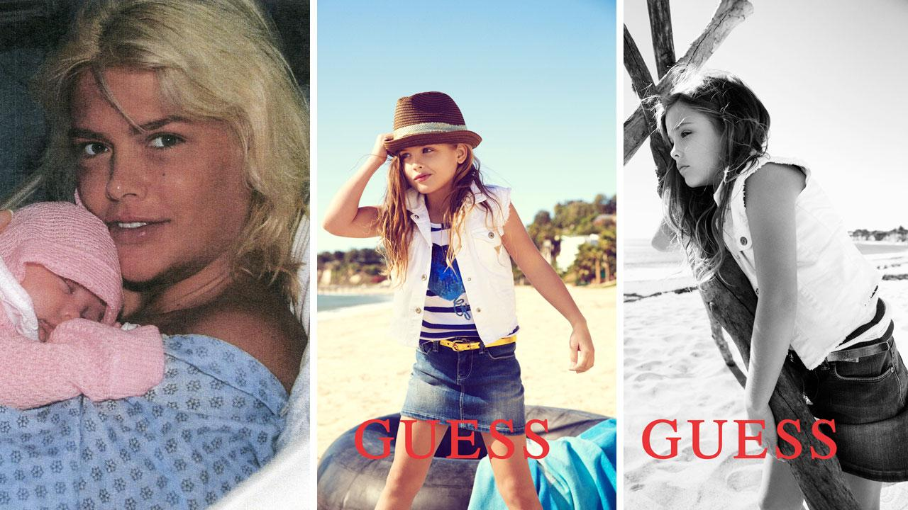 Dannielynn Birkhead, the 6-year-old daughter of the late Anna Nicole Smith, appears in an ad for Guess kids Spring 2012 campaign.