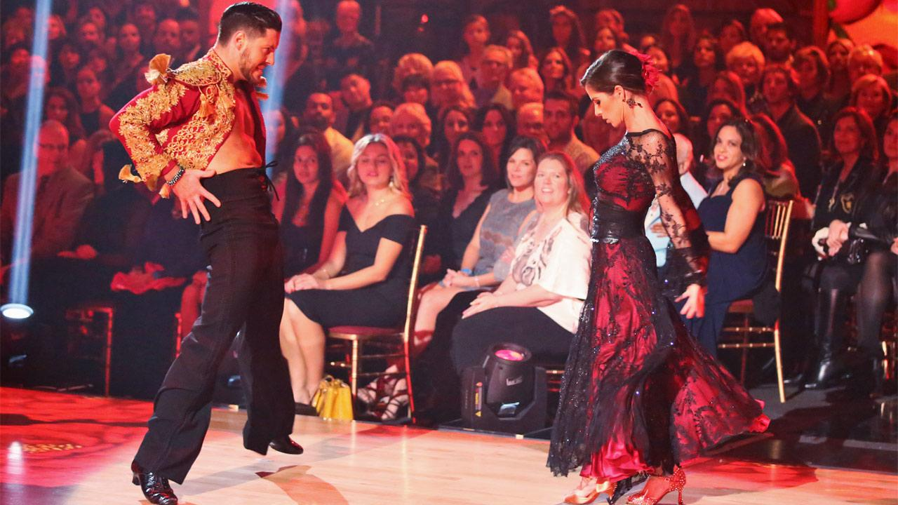 General Hospital actress Kelly Monaco and her partner Valentin Chmerkovskiy received 29.5 out of 30 points from the judges for their Paso Doble on Dancing With The Stars: All-Stars on Monday, Nov. 26, 2012.Adam Taylor