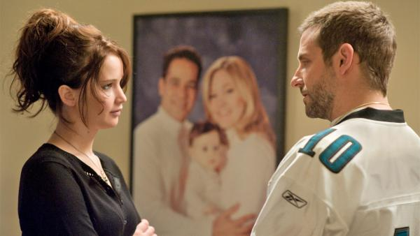 Jennifer Lawrence and Bradley Cooper appear in a scene from the 2012 film Silver Linings Playbook. - Provided courtesy of The Weinstein Company