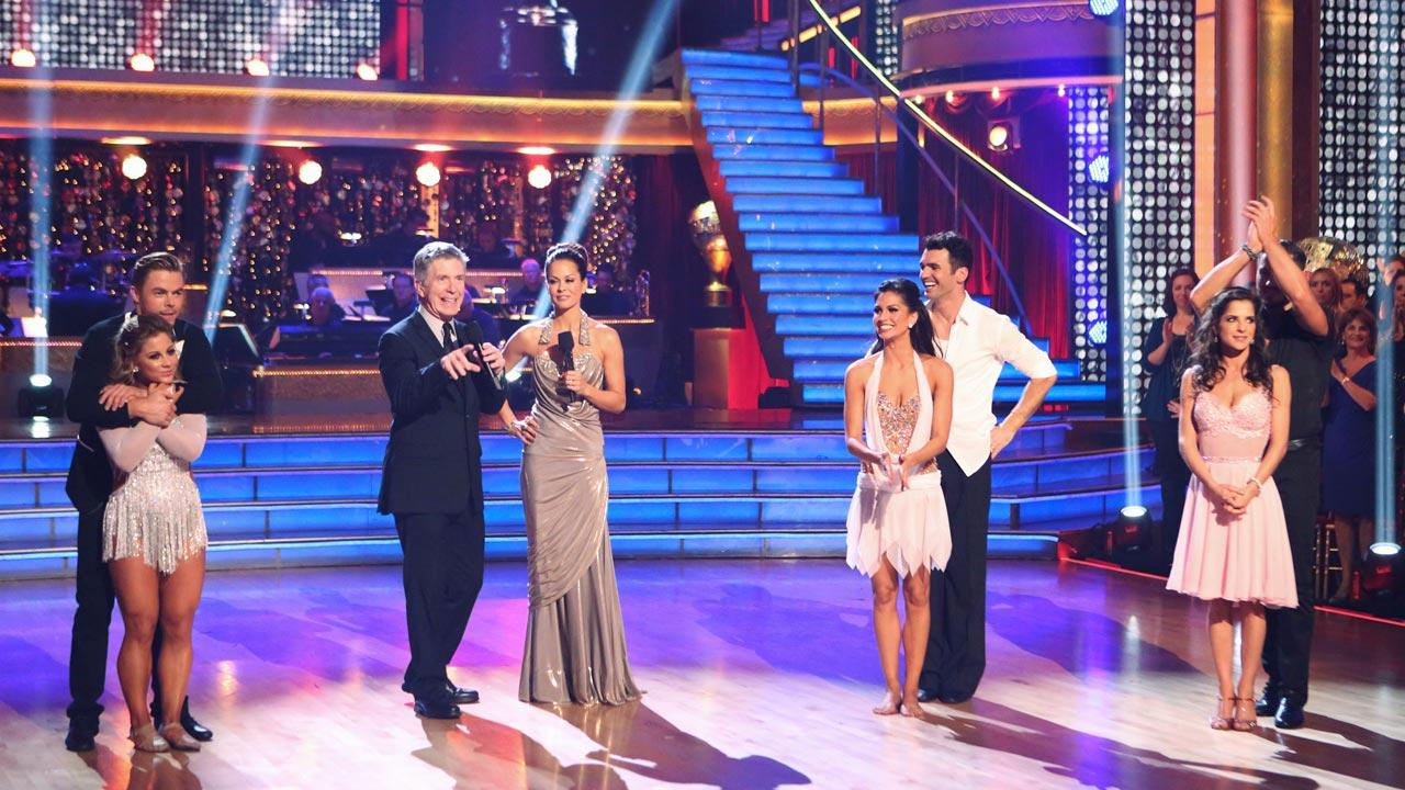 The cast appears in a still from week 10 of Dancing With The Stars: All-Stars, which aired on Nov. 27, 2012.