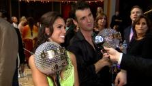 Melissa Rycroft and Tony Dovolani after the Dancing With The Stars: All-Stars finale on November 27, 2012. - Provided courtesy of KABC