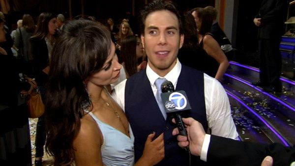 Apolo Anton Ohno and Karina Smirnoff talk to OTRC.com after the Dancing With The Stars: All-Stars finale on November 27, 2012.