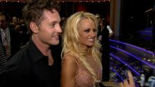 Pamela Anderson and Tristan MacManus talk to OTRC.com after the Dancing With The Stars: All-Stars finale on November 27, 2012. - Provided courtesy of OTRC