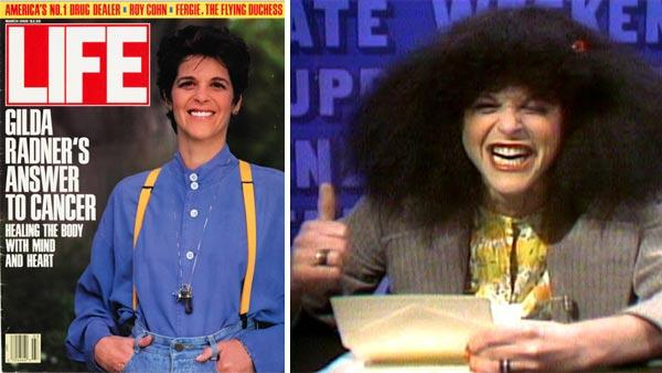 Gilda Radner appears on the cover of LIFE magazine in 1988. / Gilda Radner appears as Roseanne Rosannadanna on Saturday Night Live in the 1970s. - Provided courtesy of LIFE / NBC