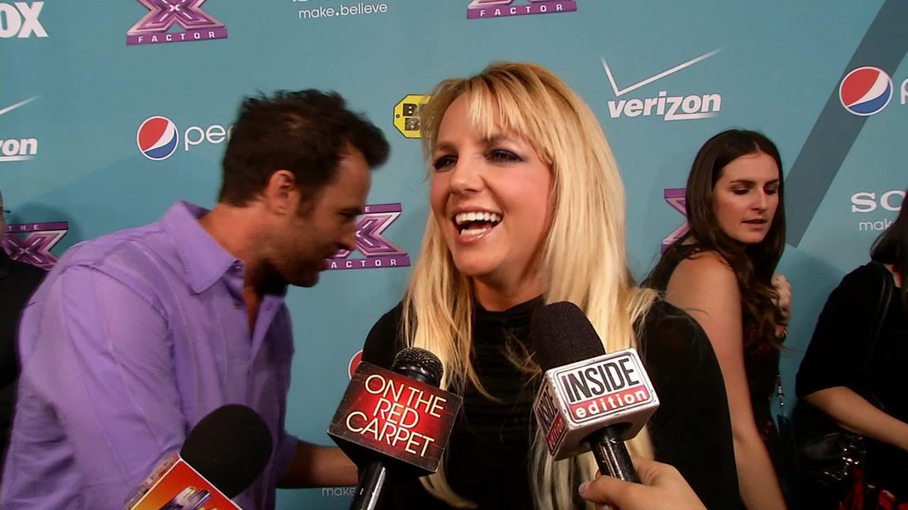 Britney Spears talks to OTRC.com at a party celebrating FOXs The X Factor in November 2012.
