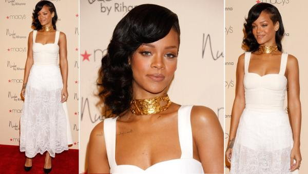 Recording artist Rihanna attends the launch of her third fragrance, Nude By Rihanna, at Macys Westfield Century City at Macys Westfield Century City on December 1, 2012 in Century City, California. - Provided courtesy of OWN