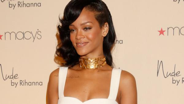 Recording artist Rihanna attends the launch of her third fragrance, Nude By Rihanna, at Macys Westfield Century City at Macys Westfield Century City on December 1, 2012 in Century City, California. - Provided courtesy of AP