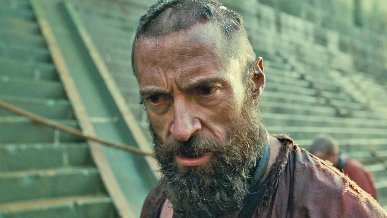 Jean Valjean (Hugh Jackman) sings in this scene from Les Miserables. <span class=meta>(Universal Pictures &#47; Working Title Films &#47; Cameron Mackintosh Ltd.)</span>