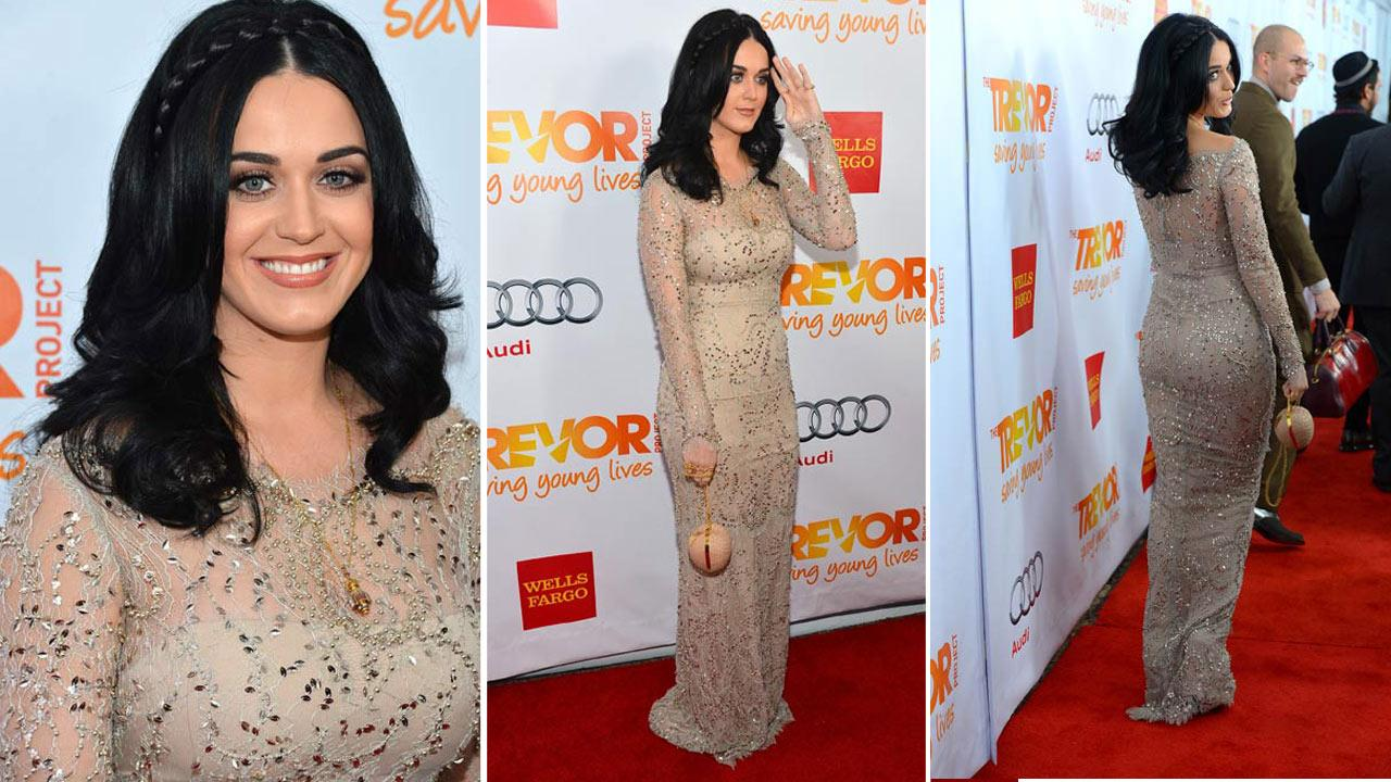 Katy Perry was honored as a Trevor Hero at a Trevor Project event on Dec. 2, 2012.