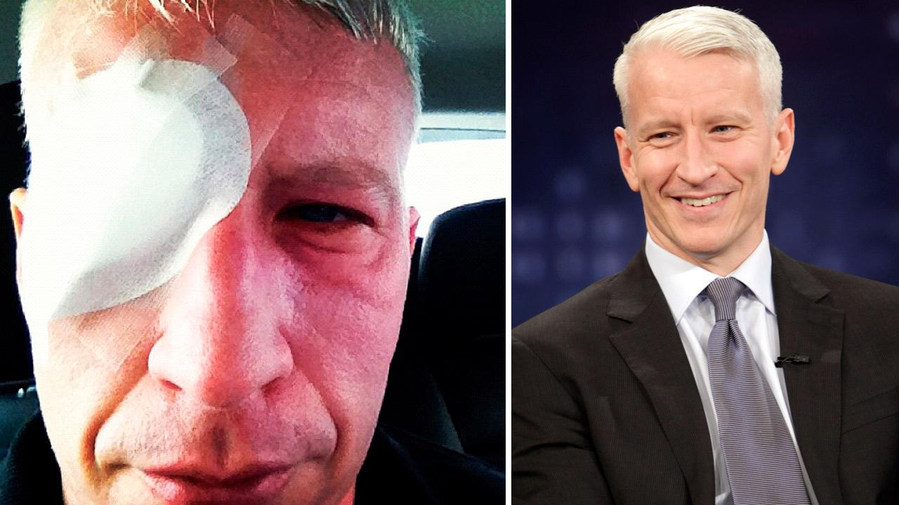 Anderson Cooper appears in a photo he Tweeted on December 4, 2012. / Anderson Cooper appears in an June 22 episode of Jimmy Kimmel Live.