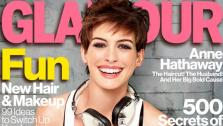 Anne Hathaway appears on the January 2013 cover of Glamour magazine. - Provided courtesy of Glamour magazine