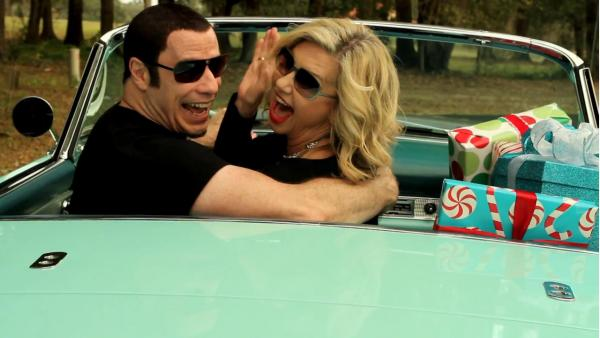 John Travolta and Olivia Newton-John appear in the video for I Think You Might Like It, released in December 2012. - Provided courtesy of UME Music
