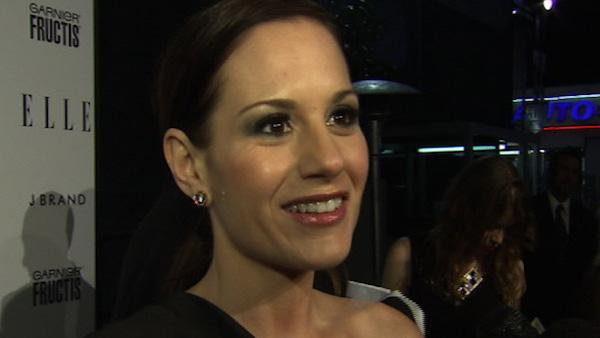 Kara DioGuardi of 'American Idol' talks to OnTheRedCarpet.com about new Bravo 'Platinum Hit' songwriting reality show at ELLE magazine's 'Women in Music' event in Los Angeles in April 2011.