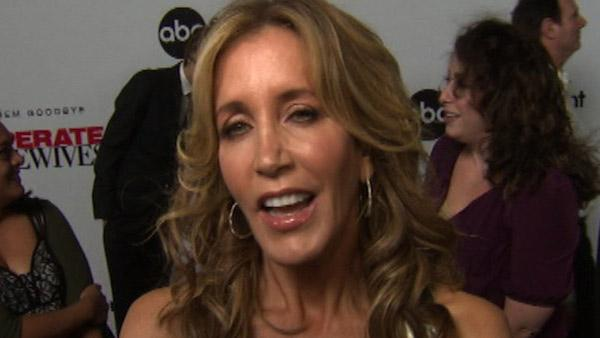 Felicity Huffman talks to OnTheRedCarpet.com at a Los Angeles event celebrating the premiere of the eighth and final season of the ABC show 'Desperate Housewives' on Sept. 21, 2011.