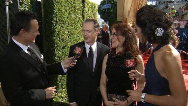 Steve Buscemi of 'Boardwalk Empire' talks to 'On The Red Carpet' at the 2012 Primetime Emmy Awards.