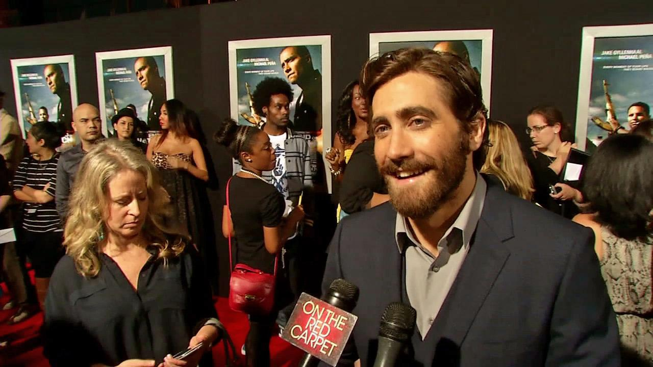 Jake Gyllenhaal talks to OTRC.com at the Hollywood premiere of End of Watch.