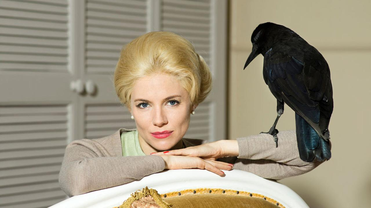 Sienna Miller appears as Tippi Hedren in a still from the 2012 HBO film, The Girl.HBO / Justin Polkey