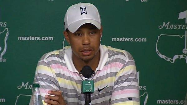 Pictured: Tiger Woods appears at a press conference in April 2010.