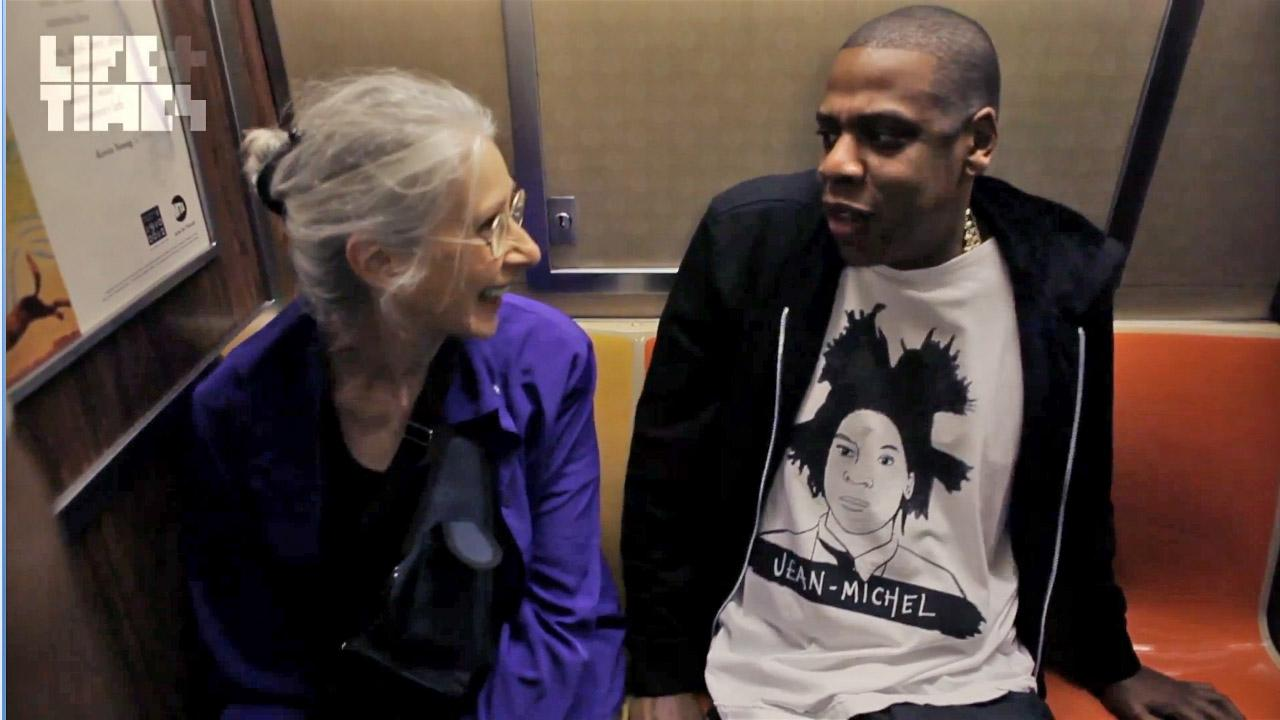 Jay-Z appears in a clip from Where Im From: JAY-Z Barclays Center Documentary shot on October 6, 2012.