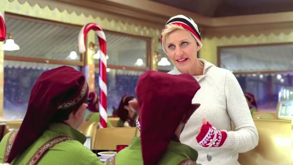 Ellen DeGeneres appears in a 2012 Christmas ad for jcpenney. - Provided courtesy of OTRC / jcpenney