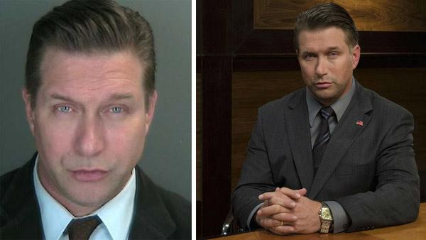 Stephen Baldwin appears in this photo provided by the district attorneys office of New Yorks Rockland County after his arrest for alleged tax evasion on Dec. 6, 2012. / Stephen Baldwin appears in a publicity photo for All-Stars Celebrity Apprentice. - Provided courtesy of Rockland County District Attorneys Office / NBC / Justin Stevens
