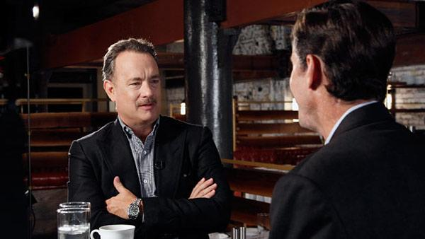 Tom Hanks talks to ABC News Bob Woodruff in an interview for the nerworks Standing Up For Heroes series, released in December 2012. - Provided courtesy of OTRC