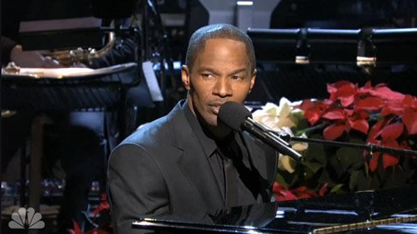 Jamie Foxx appears in a scene from the December 8 episode of Saturday Night Live. - Provided courtesy of NBC