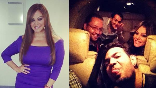 Jenni Rivera appears in a photo from her official Twitter page. / Jenni Rivera and others appear in a photo from Jacob Yebale's official Instagram page.