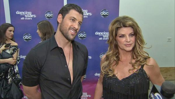 Kirstie Alley and Maksim Chmerkovskiy talk to OTRC.com after the November 5, 2012 episode of 'Dancing With The Stars.'