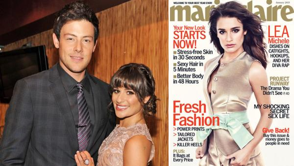Lea Michele and Cory Monteith appear the FOX 2012 Programming Presentation on Monday, May 14, 2012, at Citrus Restaurant in New York. /  Michele appears on the January 2013 cover of Marie Claire. - Provided courtesy of Frank Micelotta/FOX / Marie Claire