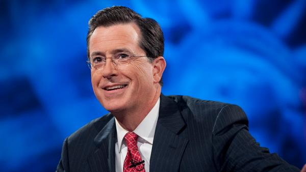 Stephen Colbert appears in an undated photo from his Comedy Central show, The Colbert Report. - Provided courtesy of Scott Gries/Comedy Central