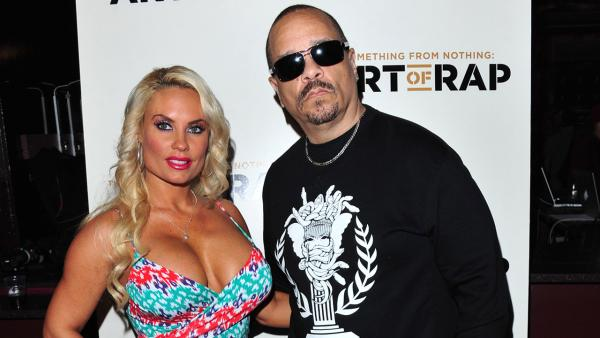 Coco, left, and Ice T pose at The Art of Rap World Premiere at the Hammersmith Apollo in London on July 19, 2012. - Provided courtesy of Jon Furniss / Invision / AP