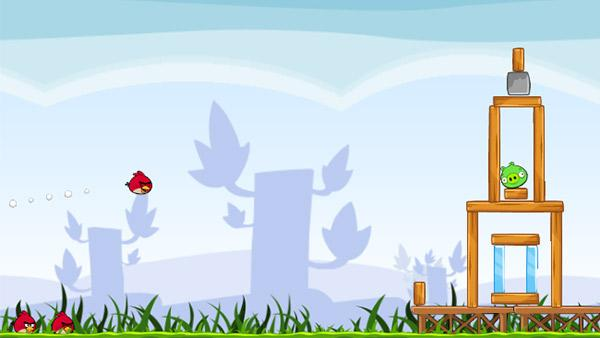 A scene from the Google Chrome version of the Rovio Entertainment game Angry Birds. - Provided courtesy of Rovio Entertainment