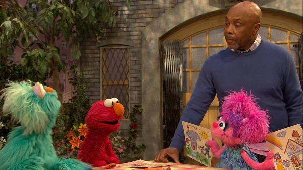 A photo of the from the Little Children, Big Challenges episode of Sesame Street in December 2012. - Provided courtesy of Sesame Workshop