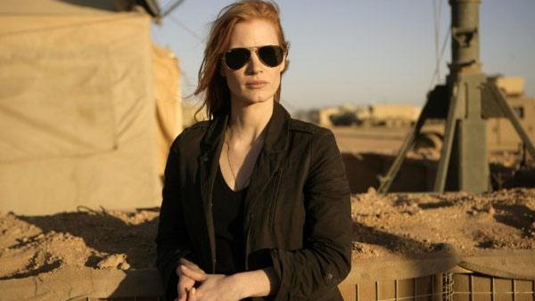 Jessica Chastain appears in a scene from the 2012 movie 'Zero Dark Thirty.'