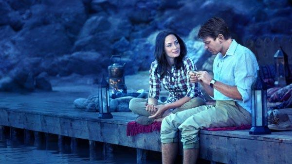 Ewan McGregor and Emily Blunt appear in a scene from 'Salmon Fishing in the Yemen.'