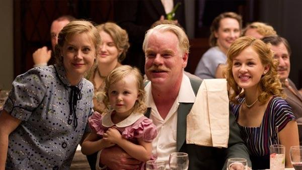 Amy Adams and Philip Seymour Hoffman appear in a scene from the 2012 movie 'The Master.'