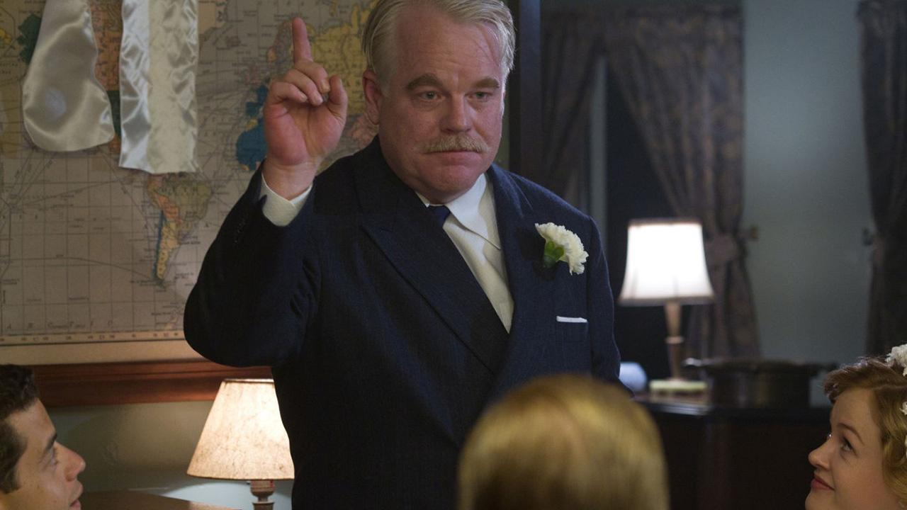 Philip Seymour Hoffman appears in a scene from the 2012 movie The Master.