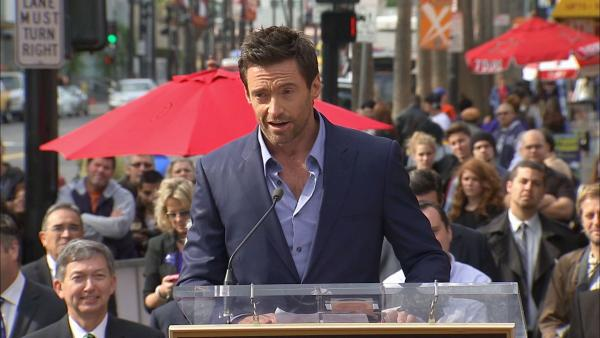 Hugh Jackman speaks at Walk of Fame star ceremony