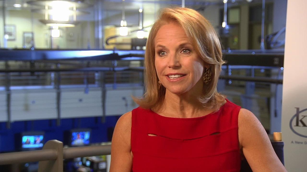 Katie Couric talks to OnTheRedCarpet.com about her new ABC talk show Katie on August 22, 2012. <span class=meta>(OTRC)</span>