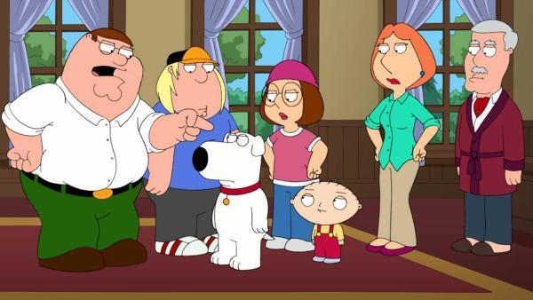 A scene from an October 2012 episode of Family Guy. - Provided courtesy of FOX