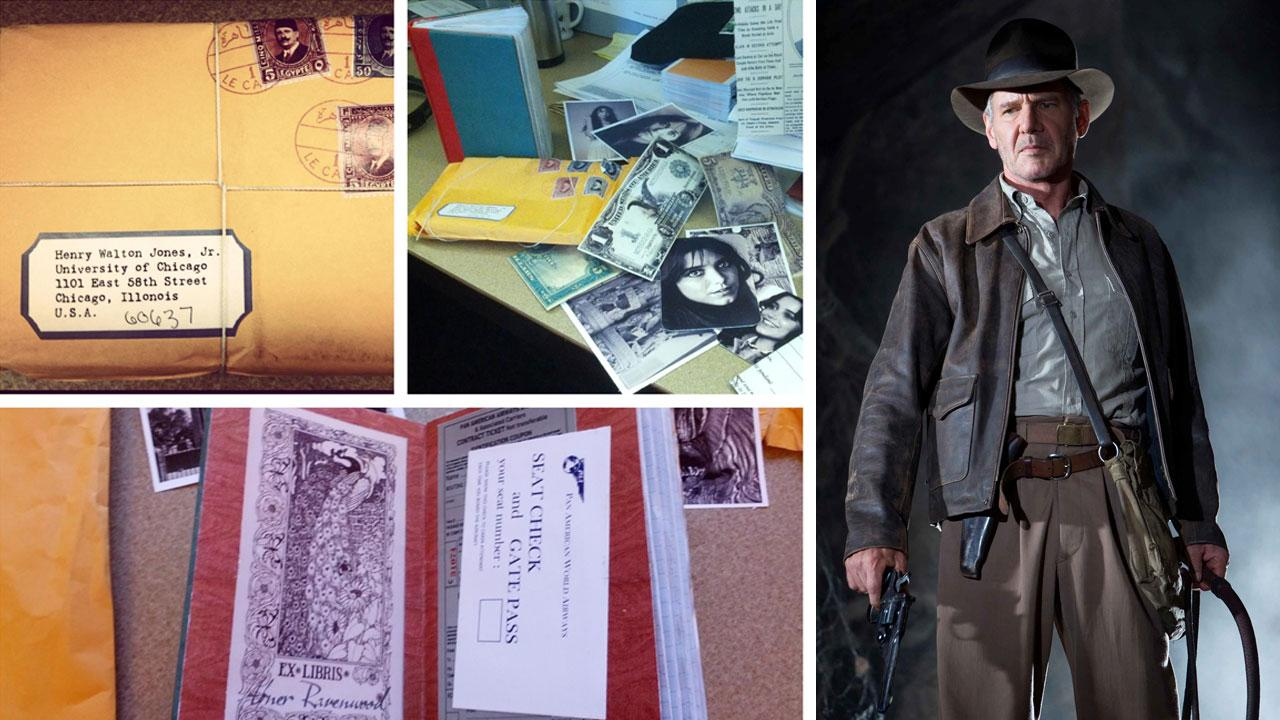 Images of the mystery package and its contents received by the University of Chicagos admissions department. / Harrison Ford appears in a scene from Indiana Jones and the Crystal Skull in 2008.