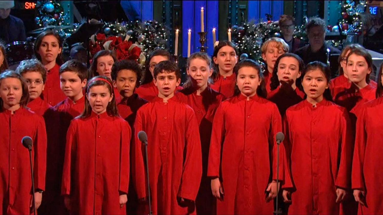 The New York City Childrens Chorus appears on Saturday Night Live on December 15, 2012.