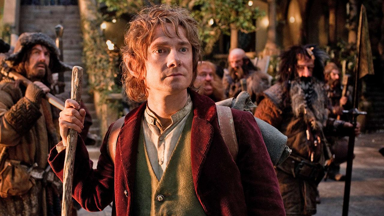 Martin Freeman appears in a scene from The Hobbit: An Unexpected Journey in 2012.