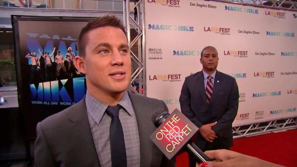 Channing Tatum talks to OnTheRedCarpet.com at the Hollywood premiere of 'Magic Mike' on June 24, 2012.