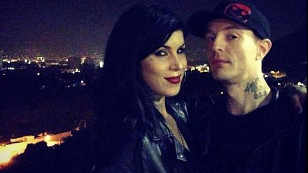 Kat Von D and DeadMau5 appear in a photo posted on Von D's official Instagram account on October 6, 2012.