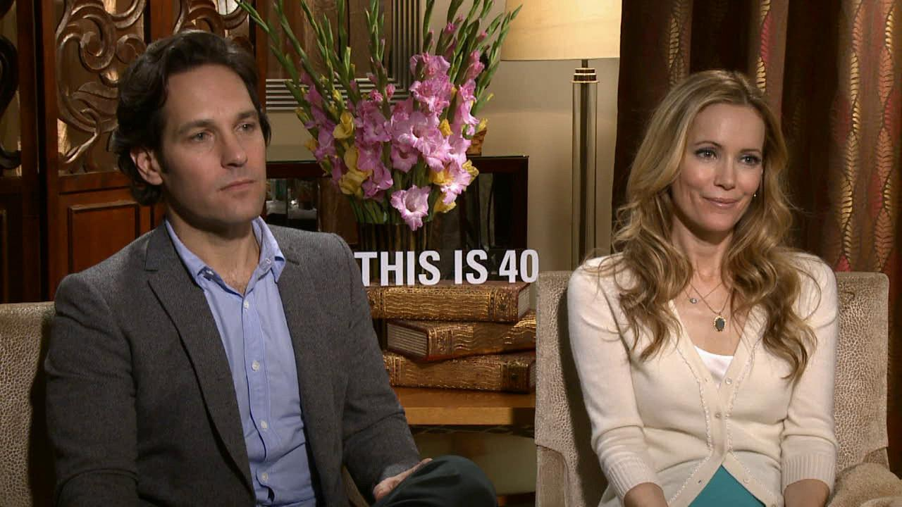 Paul Rudd and Leslie Mann talk to OTRC.com about their 2012 comedy film, This is 40, which hits theaters Dec. 21, 2012.
