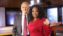 David Letterman appears on Oprahs Next Chapter with host Oprah Winfrey in an episode airing on Jan. 6, 2013. - Provided courtesy of George Burns / OWN