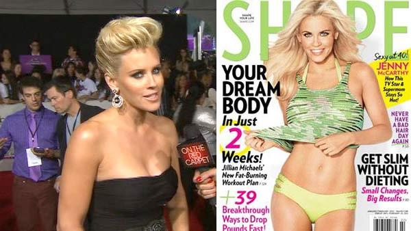 Jenny McCarthy talks to OTRC at the 40th annual American Music Awards on Nov. 18, 2012. / Jenny McCarthy appears on the cover of Shape magazines January / February 2013 issue. - Provided courtesy of OTRC / Shape / The American Media, Inc. / Weider Publications