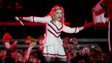 Madonna performs during her MDNA World Tour in Rio de Janeiro, Brazil, Sunday, Dec. 2, 2012. - Provided courtesy of AP / Silvia Izquierdo